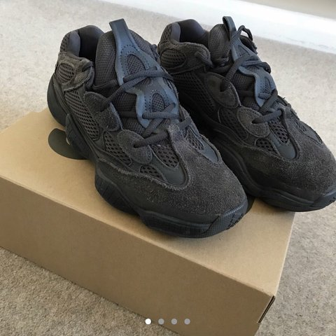 b0fb83f6f586c Adidas Yeezy 500 Utility Black. Size UK 6.5 Worn a couple of - Depop