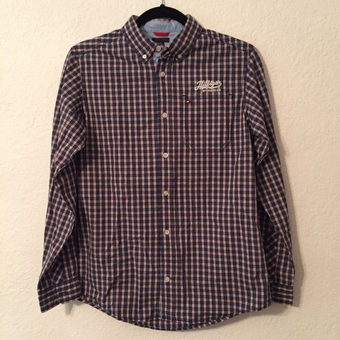 99895323 @rvphy. 3 years ago. Berkeley, CA, USA. red/blue plaid button down shirt by tommy  hilfiger ...