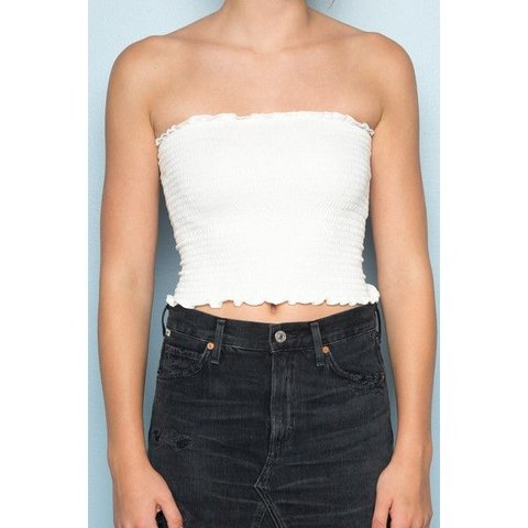 719c602aaa6 BRAND NEW BRANDY MELVILLE WHITE CLEO TOP !! Perfect Does not - Depop