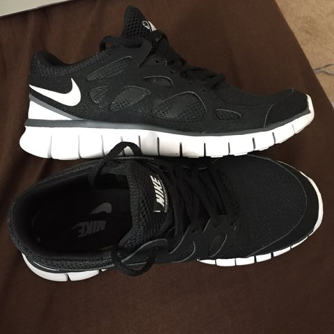 4f7a776acf6 PRICE REDUCED! Nike Free Run 2 Black Size 5. Excellent only - Depop