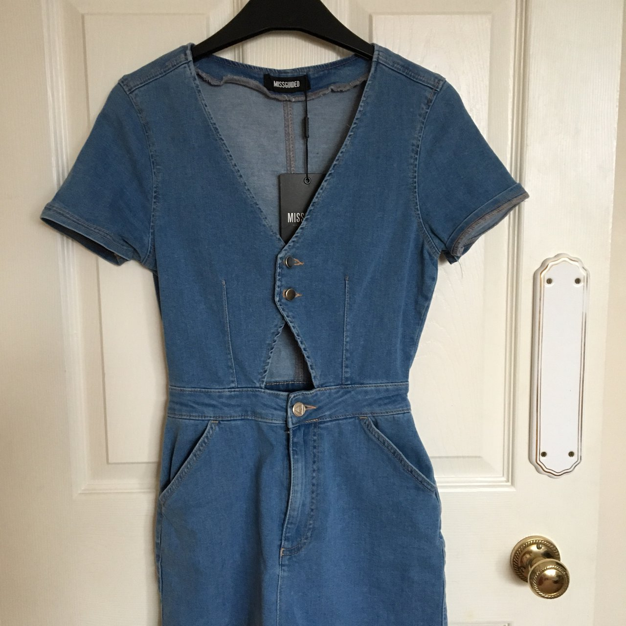 0a022eb570 Missguided Denim Playsuit Size 8☀ Brand new