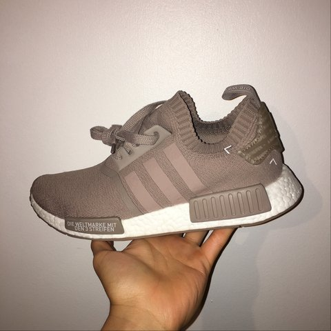5b6cf39e52b9 Adidas NMD Vapour Grey or French Beige. Size 9 UK. Brand out - Depop