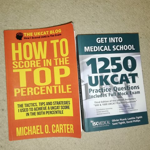 UKCAT books, for applying for medicine  Used this    - Depop