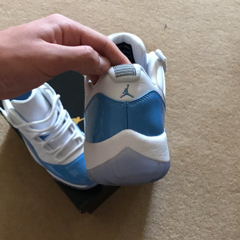 Air Jordan 11 low baby blue and white brand new size uk7.5 - Depop f7a9b4ed1