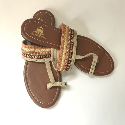 162c2c53a Beautiful boho sandals with tasteful bling. Worn once. - Depop