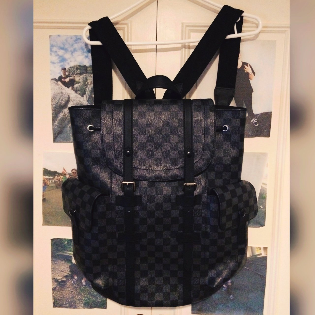 1d78f938e08b RARE LOUIS VUITTON Christopher Pm BLACK EDITION BACKPACK. TO - Depop