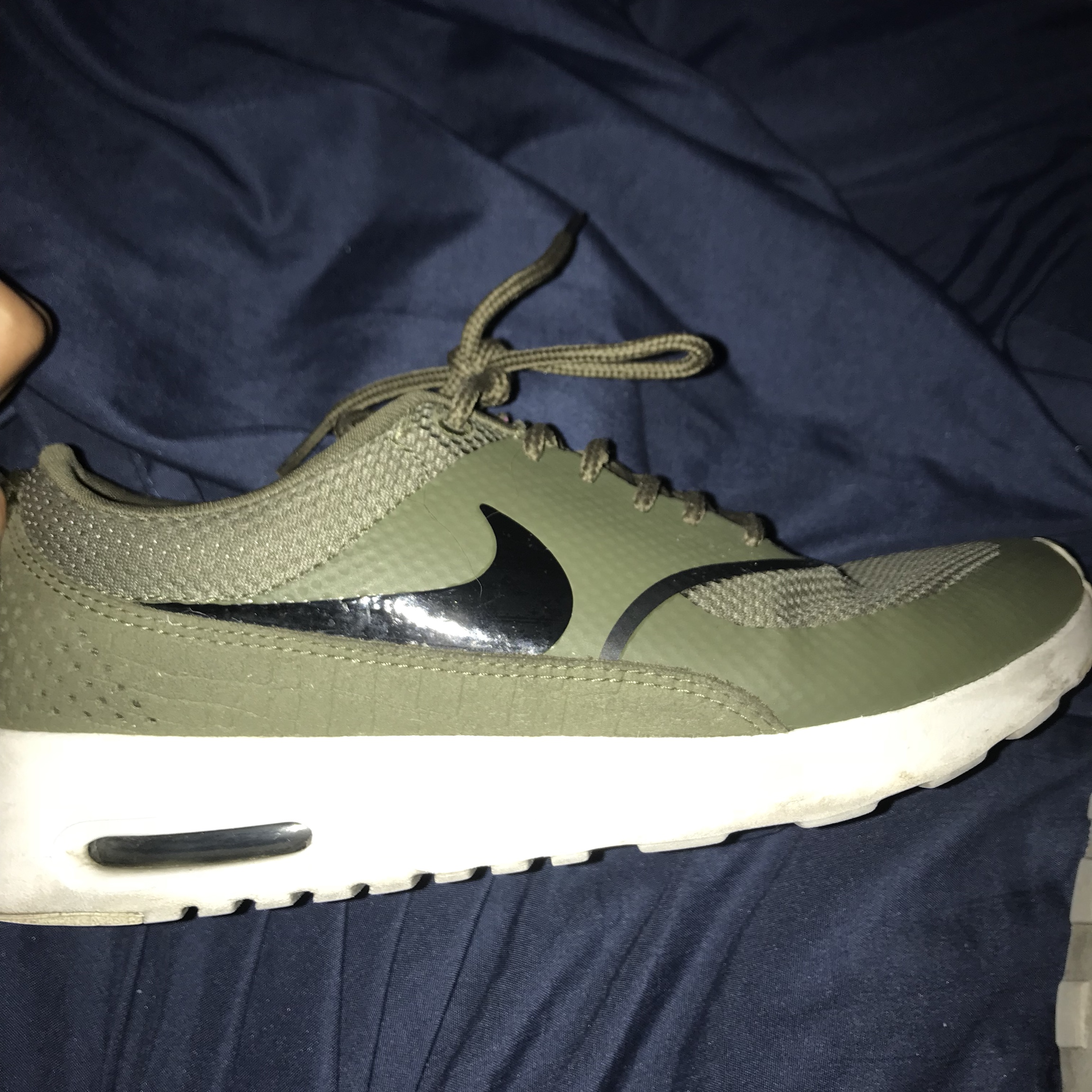 Nike Air max Thea SE olive green Size: 7 women $65 Depop