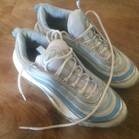 online store 9bd02 f9338  boeffen. 3 years ago. London, UK. Fairly worn Nike Air Max 97 white sky  blue.