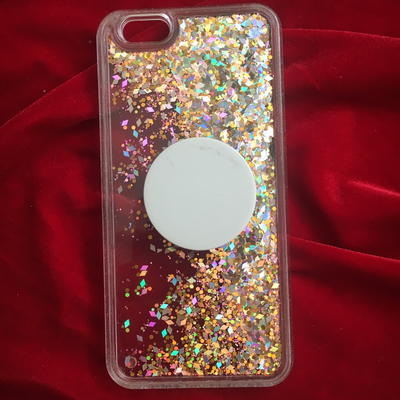 wholesale dealer 040eb 32385 sparkly pink iphone 6 case with popsocket 🌹 in great... - Depop