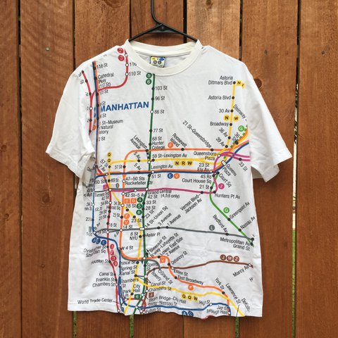 Nyc Subway Map T Shirt.Listed On Depop By Paalomaa