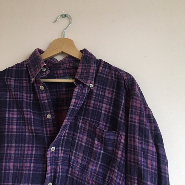 Flannel Purple Pink Urban Outfitters Shirt by Depop