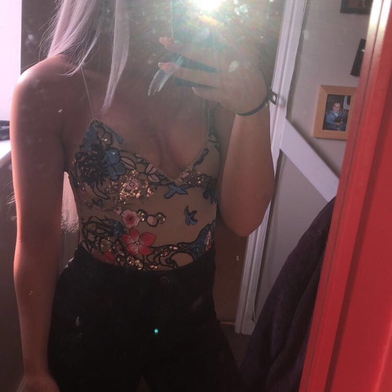 a27b181039 Topshop sequin bodysuit size 8 worn once in perfect £10inc - Depop
