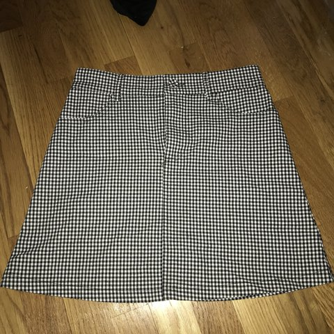 c737b07a891e @carlamathieux. last year. New York, United States. Brandy Melville black  and white checkered skirt. Mini ...