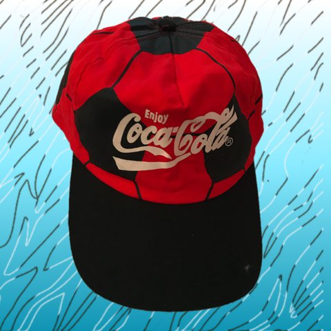 eec7208c2e7 the Cola hat 💋 a rlly cool vintage Coca Cola dad   baseball - Depop