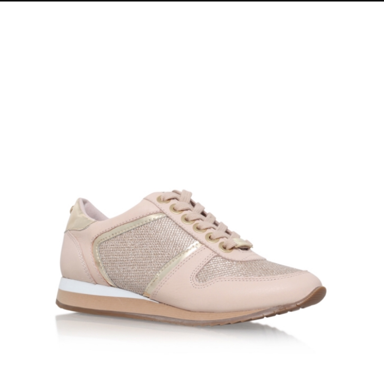 CARVELA pink glitter sparkly trainers