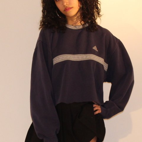 aa9ae745f perfect adidas cropped sweatshirt !! so cozy and cute ! and - Depop