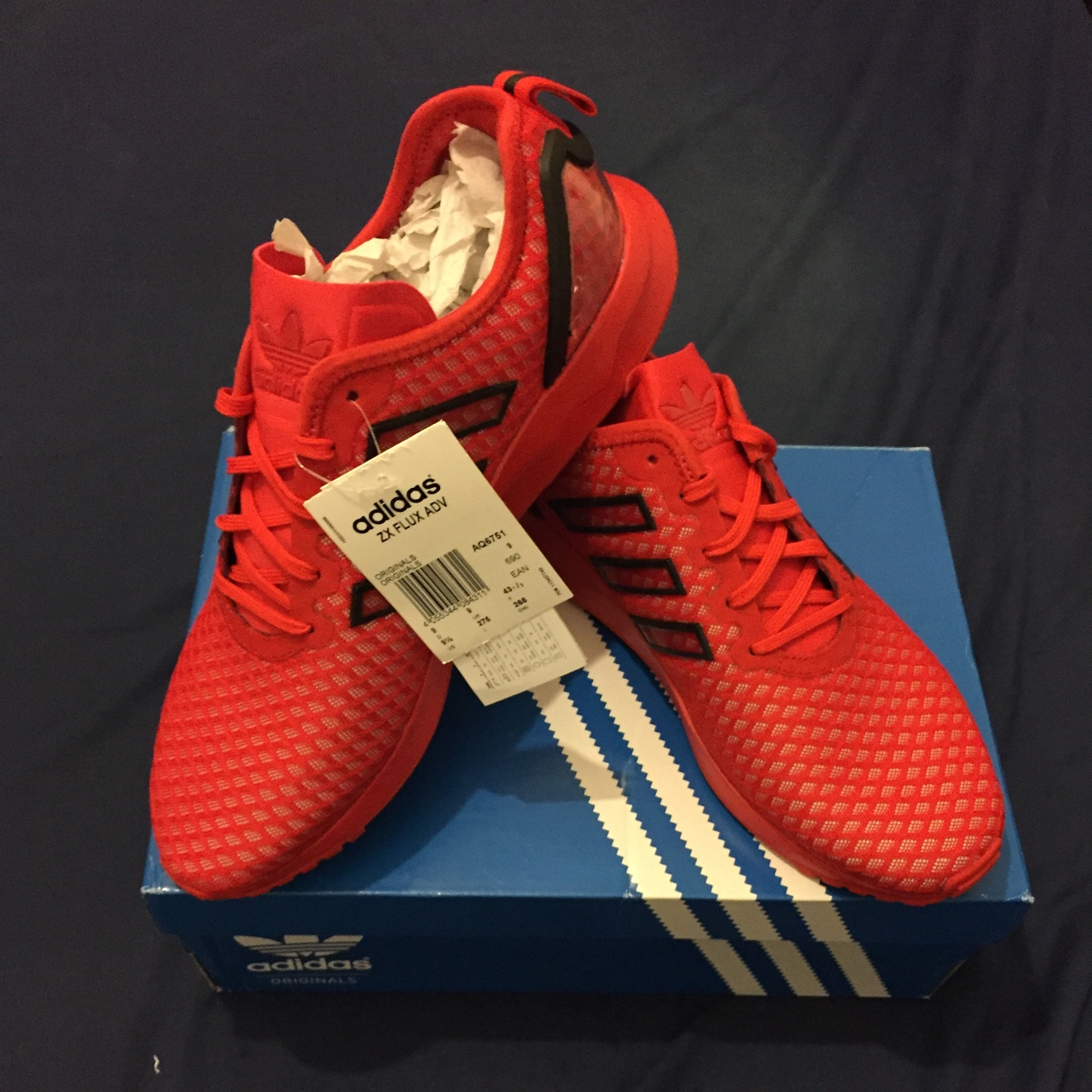 premium selection 5b4e1 53edd Brand new Adidas ZX Flux ADV red, unwanted Christmas ...