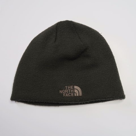 3033cba598281 THE NORTH FACE Brown reversible beanie hat Brand new  wool - Depop
