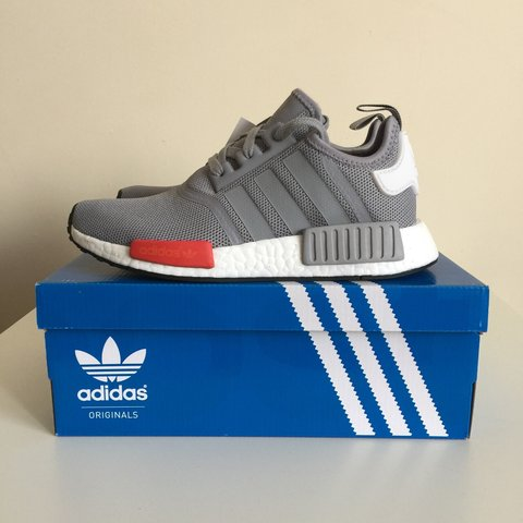 5acf075e160c Adidas NMD R1 Runner - UK 9 US 9.5 - Moscow - White Grey Red - Depop