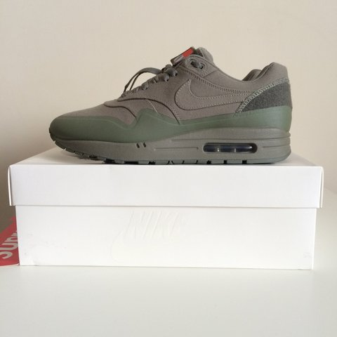 more photos 24c58 d940f   zs. 3 years ago. Chigwell, UK. Nike Air Max 1 V SP Patch Steel Green ...