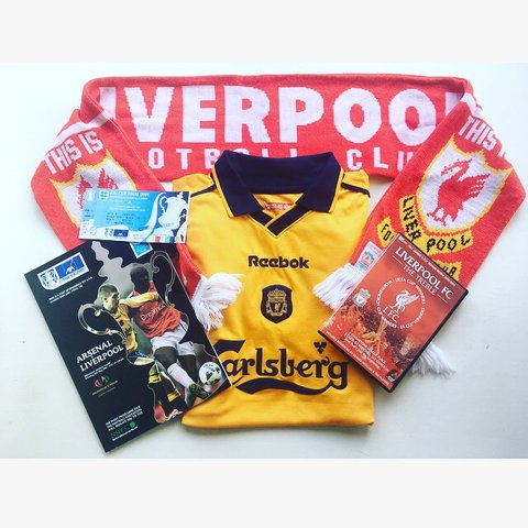 71ac88dc6 Iconic match day collection  Liverpool FA Cup final 2001 - 2 - Depop