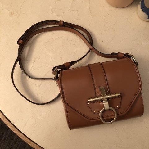 """f64b636426 Authentic Givenchy """"Obsedia"""" crossbody bag in tan leather x - Depop"""