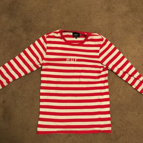 03ba7298e9 @steeznrice. last year. United States. RED/WHITE STRIPED HUF LONG SLEEVE TEE