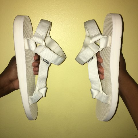 9e9ffa32625 Strappy white Teva Universal sandals These Tevas are a great - Depop