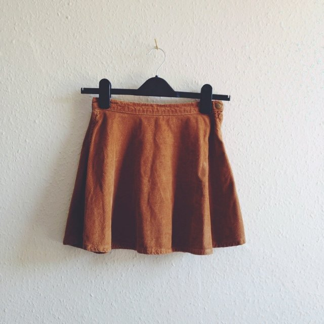 a870ca50ee American Apparel cord skater skirt. Size XS. #aa - Depop