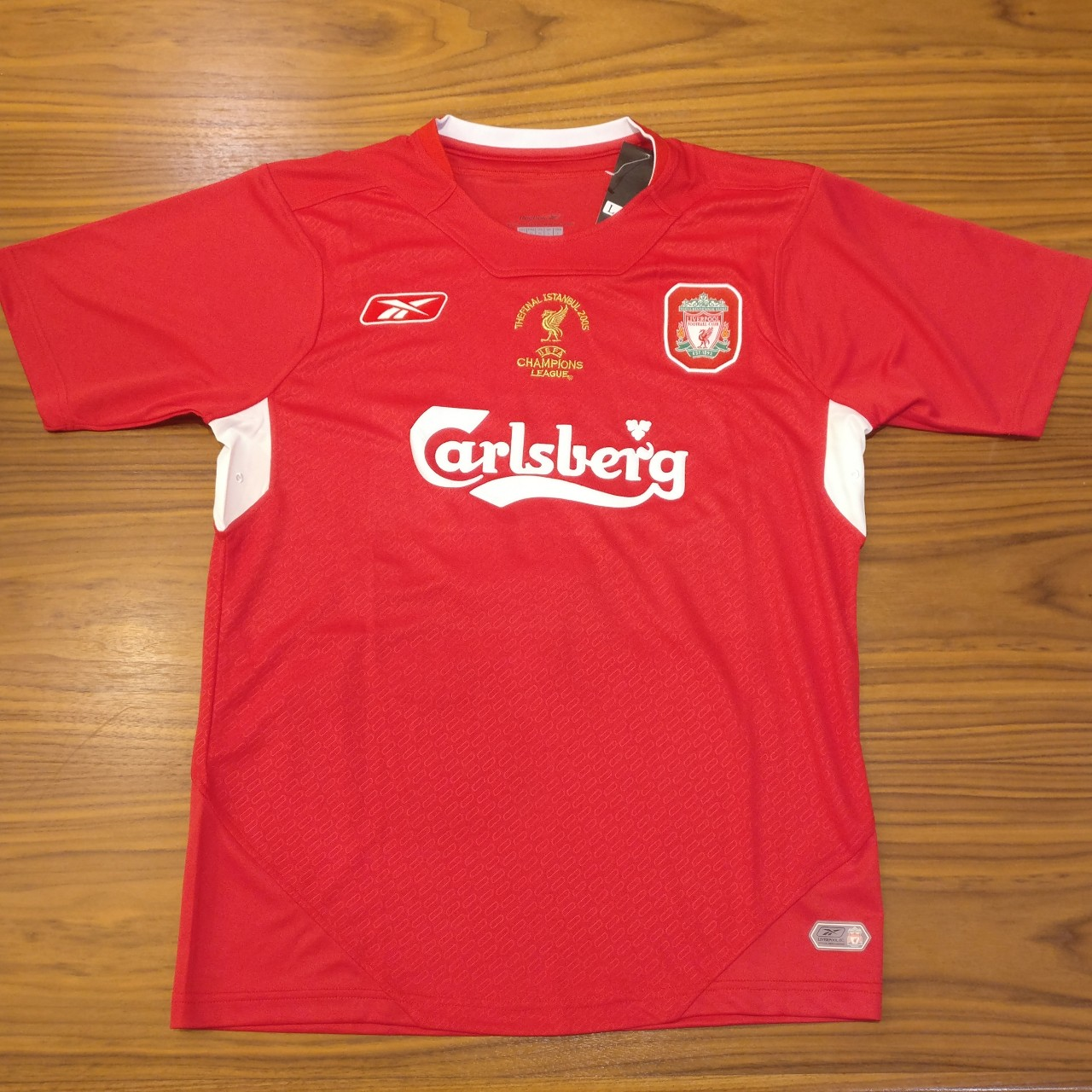 the latest b828a 89ab4 Liverpool champions league final replica jersey.... - Depop