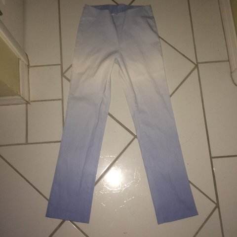 3ebf394d364 These are a pair of punk pastel goth sky blue ombré skinny 4 - Depop