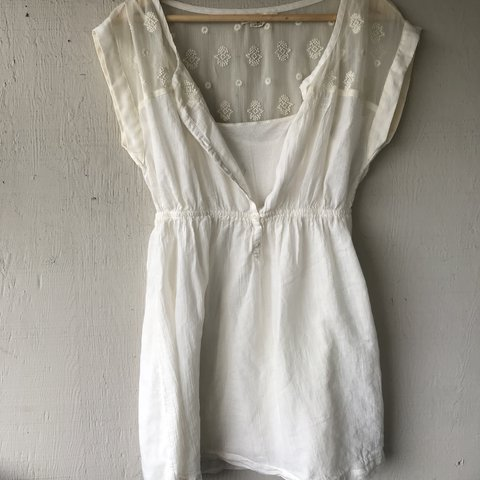 d5f163fe745 American Eagle white dress. White slip comes underneath. Not - Depop