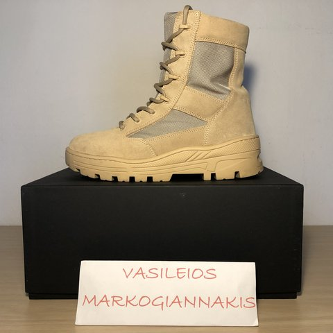 64ebfea0d8d53 Yeezy season 4 combat boot sand US8 UK7 EUR41 Condition with - Depop