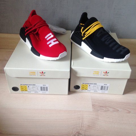 cabf2a80b Adidas PWD Human Race NMD Pharell Williams. Black and with + - Depop