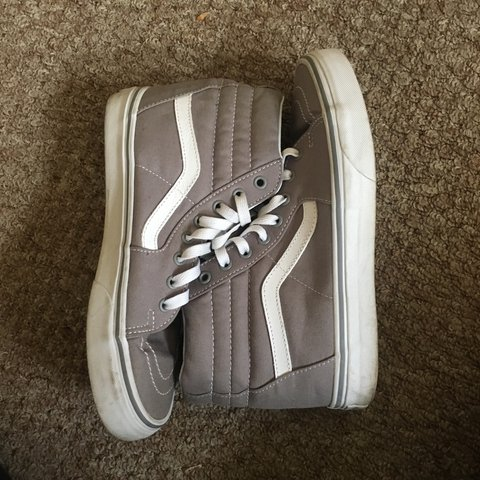 51b5c3465c7 Sk8 high gray vans!! So cute!! And only worn twice. Shoe are - Depop