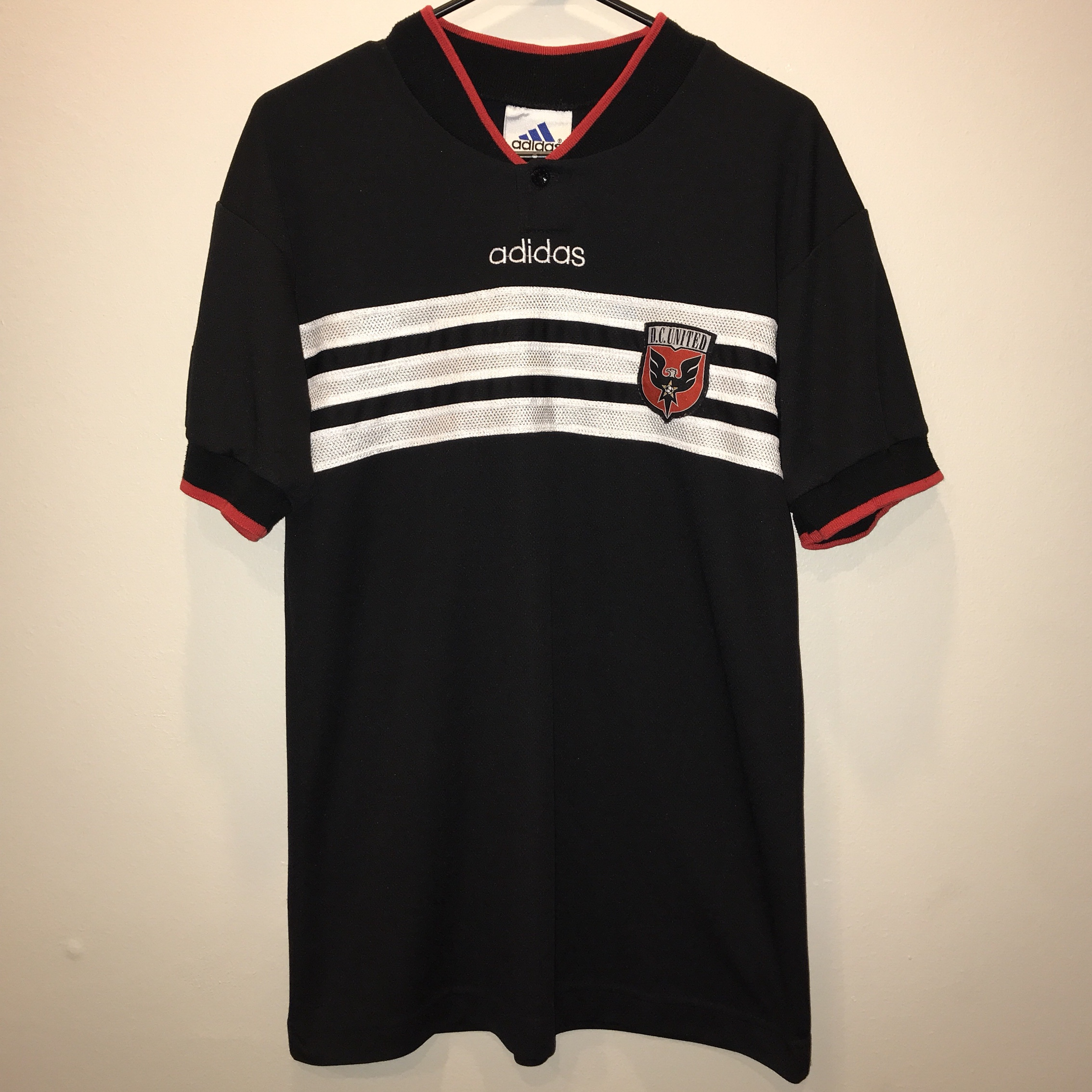 competitive price 25aeb c30f8 Vintage DC United MLS Soccer Jersey ⚽️ . Clean... - Depop