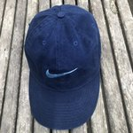 36640f948b7f4 Vintage 90s Nike Strapback hat. Big Nike spellout in yellow - Depop