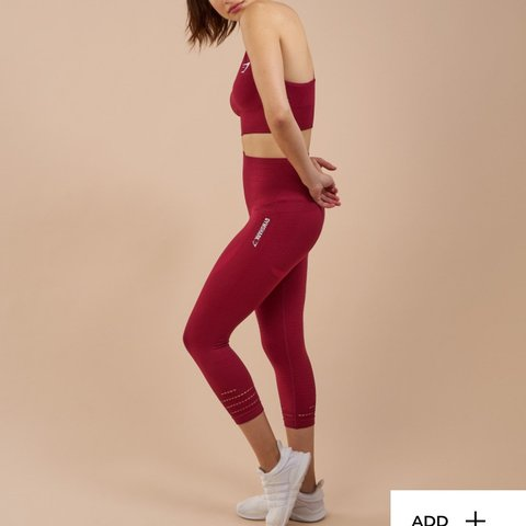 08ad795d73e67 @isobellepayne. last year. St Andrews, United Kingdom. Gymshark seamless  old style cropped leggings in beet- worn only ...