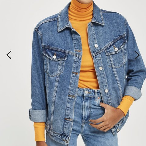 807bbc20568 Topshop MOTO oversized blue denim jacket. Hardly worn
