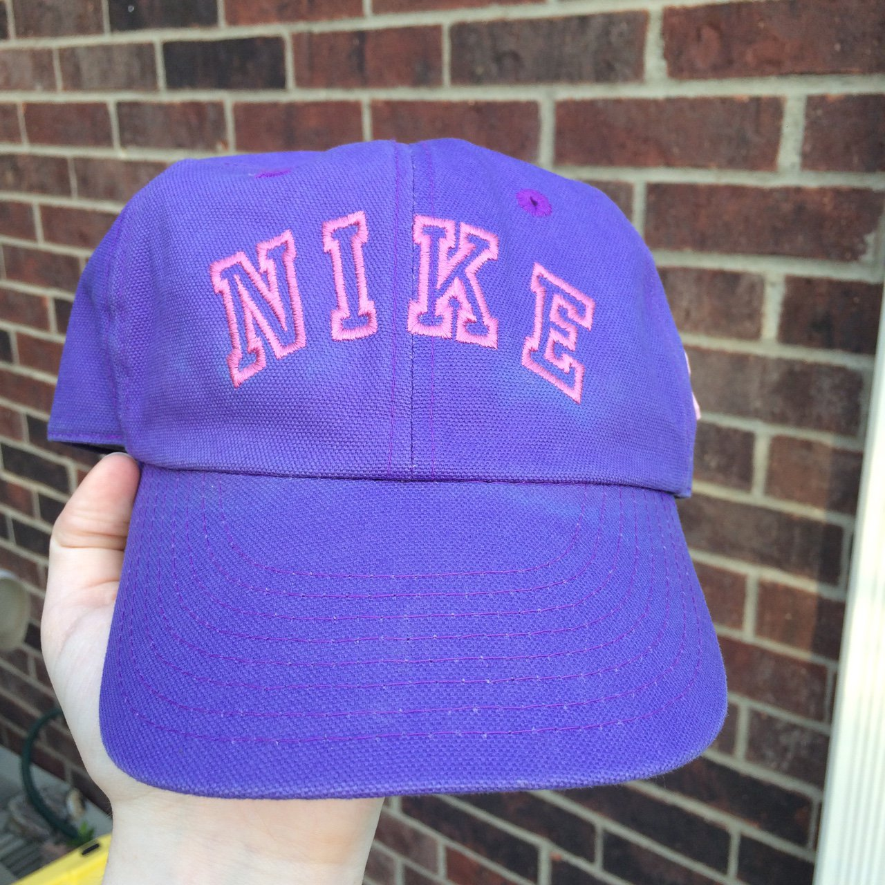 90 s Nike dad hat in pink purple color way has pink breast a - Depop cfbb32df1f0