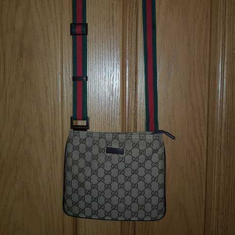 1e8388a60758ea Gucci man bag / messenger bag. Classic GG canvas. 100% - - Depop