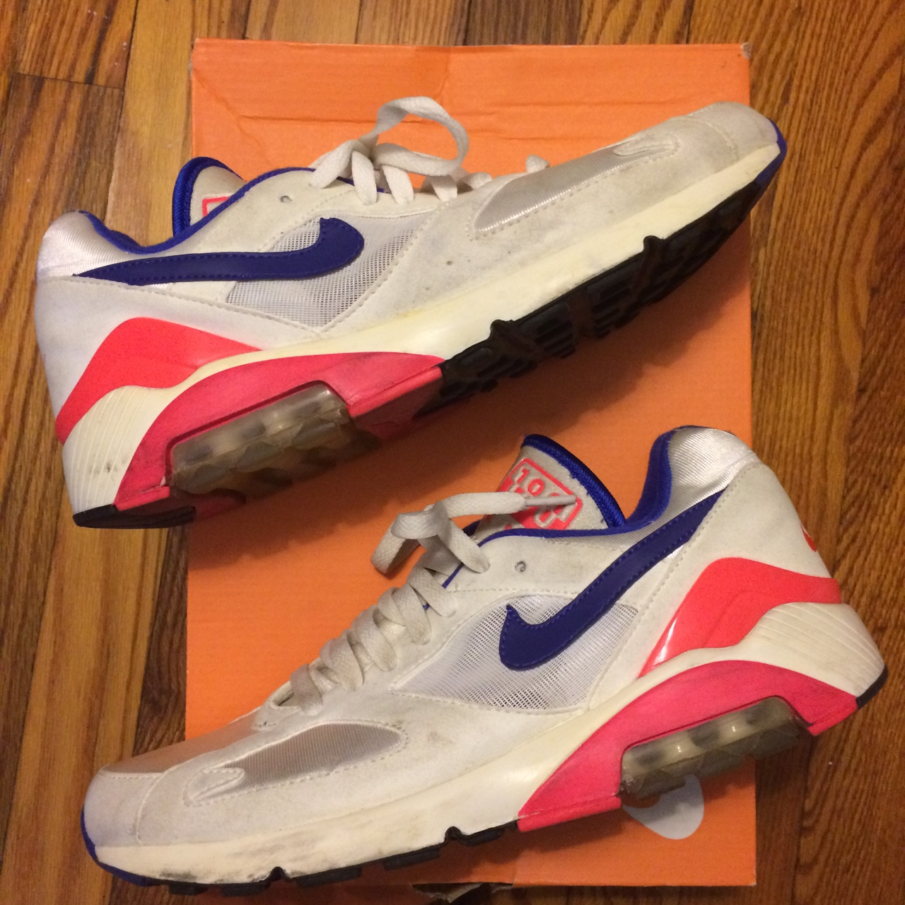 Nike Air Max 180 OG Ultramarine in worn condition. Depop