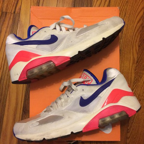 Nike Air Max 180 OG Ultramarine in worn condition. Size 9 - Depop cce394f2b