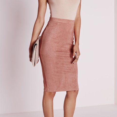 d438d6ca3 @dejaitalia. 3 years ago. Norfolk, United Kingdom. Missguided light pink  faux suede skirt.