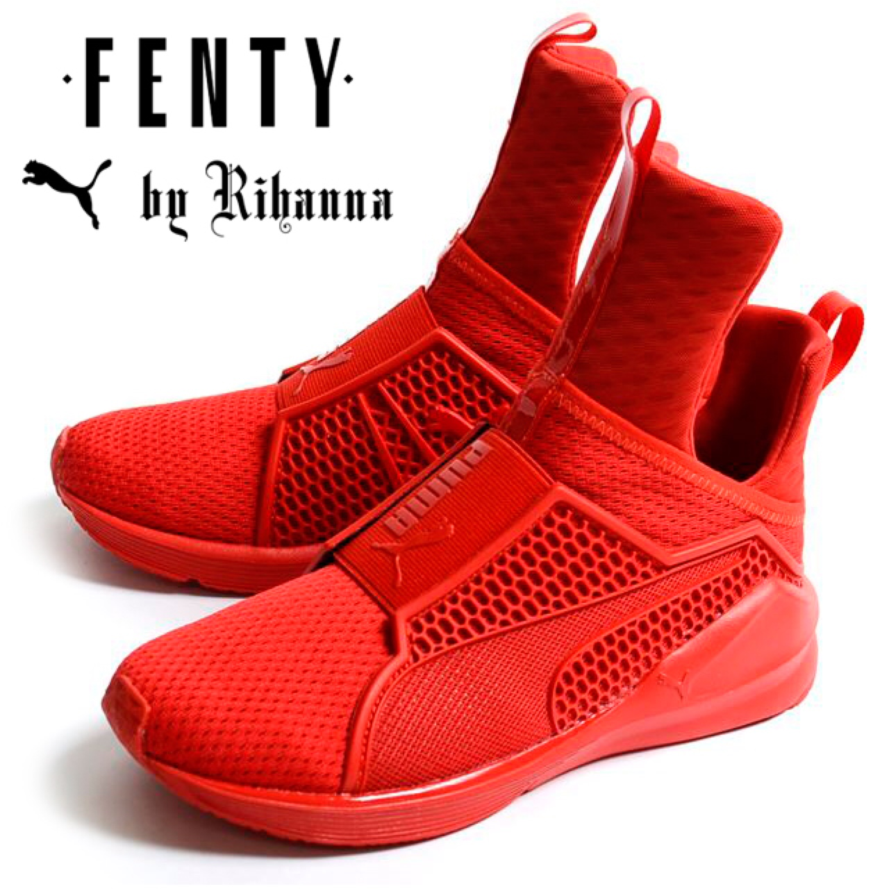 purchase cheap bc7b7 8ac87 Red Rihanna Fenty Puma Sneakers. Limited edition.... - Depop