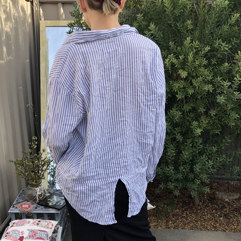 8f87594a @jzmnftzptrck. 20 days ago. Flora Hill, Australia. blue and white stripped button  up top so flowy so pretty so cute so comfy ...