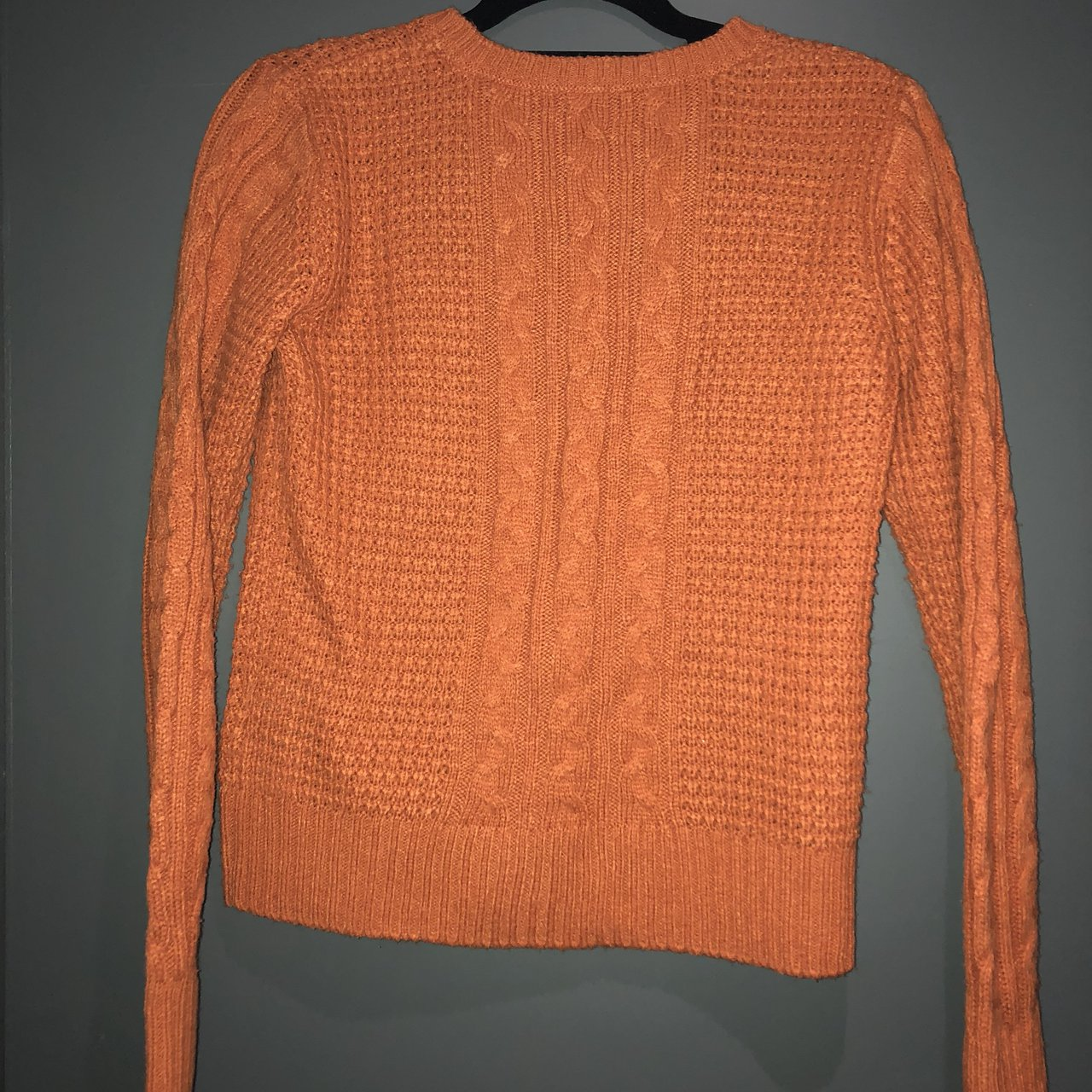 Burnt orange thick knit jumper Size M Would for 10-12 good - Depop 7b46bba5f