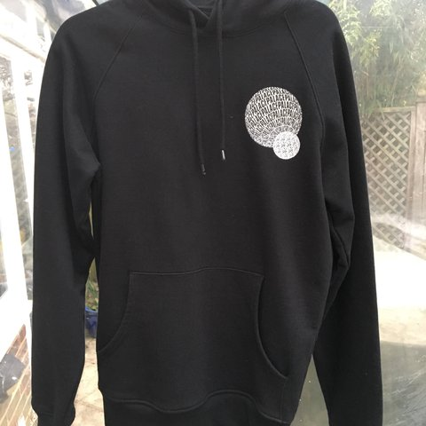 5f12d78f7b41 Palace  If You Ain t There  Hoodie Black Mens size S Worn a - Depop