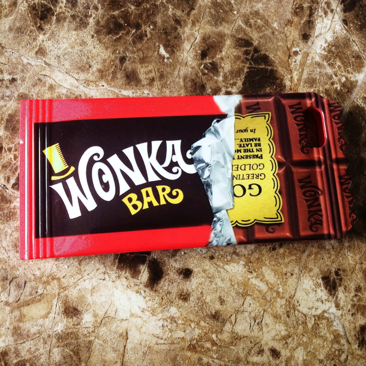 Willy Wonka Chocolate Bar With The Golden Ticket Depop