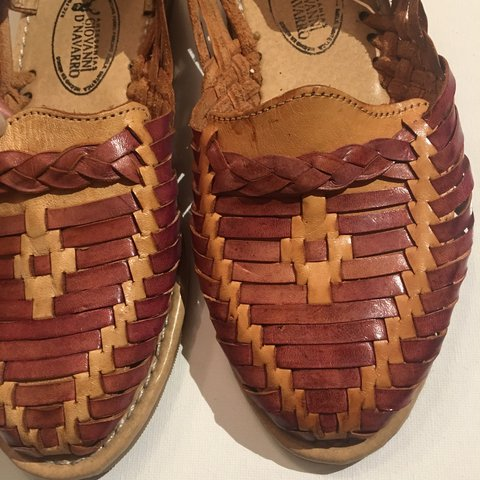 bb9297ec2bdb51 Authentic Leather Sandals. Made in Mexico!! Size 4